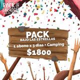 Pack Abono X 3 Dias + Camping Rock En Baradero Ticket Elec