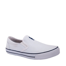 Tenis Casuales De Resorte Hpc Polo Blanco Textil Ur198 A