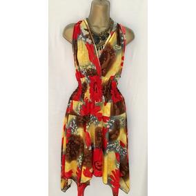 Vendo Divino Vestidito Bluson En Picos Floreado Hm4