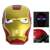 Mascara Luzes Led Cosplay Criança - Homem De Ferro Iron Man