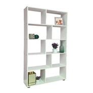 Biblioteca 5 Estantes Cubo 90 Ancho Minimalista Librero @