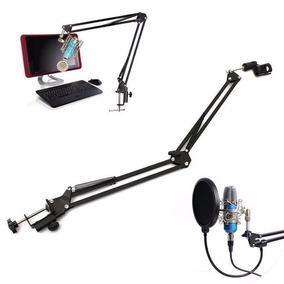 Pedestal Articulado Mesa Suporte Microfone Retratil - Bm 800