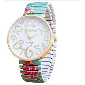 Relógio Importado Com Pulseira Elástica Flórida Com Caixa