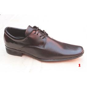 Elegantes Zapatos De Piel Y Charol Negro Todas Las Tallas