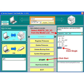 Service Support Tool Canon-color Imagerunner System Software