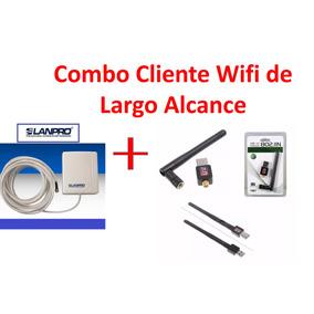 Combo Wifi Largo Alcance Usb Inalámbrico Y Direccional12dbi