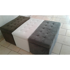 Bau Puf De Brinquedos Cobertores Grande 80x42x45