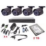Paquete Kit 8 Canales 1080p 4 Cámaras Full Hd 2 Tb Eliminado