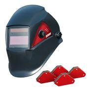 Mascara Fotosensible Para Soldar Omaha + Set De 4 Escuadras