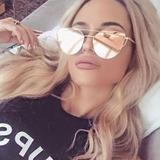 Óculos De Sol Feminino Rosê Cat Gatinho Metal Luxo