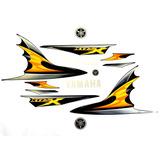 Jogo De Adesivos Kit Faixas Xtz 250x Lander 2009 Preta