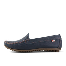 Mocasín Floter Boating Mature Azul Cuero Casual Mujer