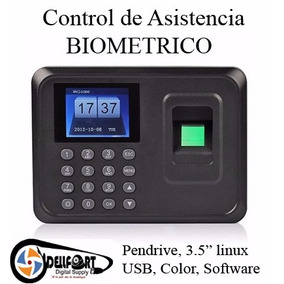 Control De Asistencia Biometrico Usb Sistema Español