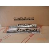 Emblema Land Cruiser Toyota Machito Original Repuesto El Par