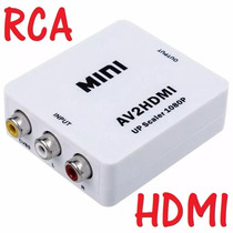Convertidor Rca A Hdmi Av Pc Laptop Video Hd Tv Tienda Punto