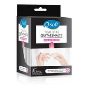 Toallitas Quitaesmalte Q-soft Sin Acetona (18 Paquetes)