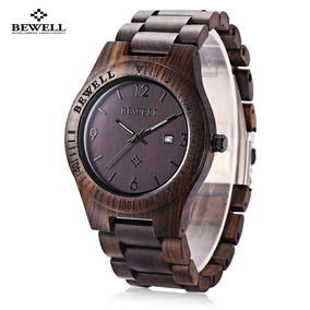 Bewell Zs - W086b Reloj De Madera De Cuarzo Para Hombres Fec