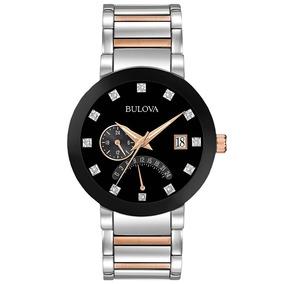 Reloj Bulova Diamonds 98d129 Time Square