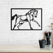 Quadro Decorativo Parede Animal Cavalo 02 30cm