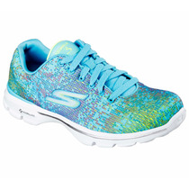 Zapatos Skechers Para Damas Performance Go Walk 14058 - Blu