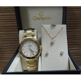 9cebede3743 Relógio Champion Diva Feminino Cn29687w - Kit Presente  N F
