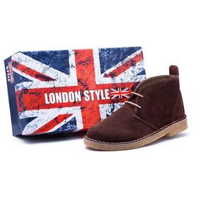 Bota Sapato London Masculino Feminino Estilo Clarks Couro