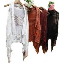 Colete Kimono Feminino Tricot/croche - Promocional !!!
