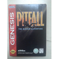 Game Pitfall The Mayan Ad Sega Genesis Mega Drive - Completo