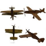 Avião Monomotor Guerra P51 Em Mdf Cru Medio