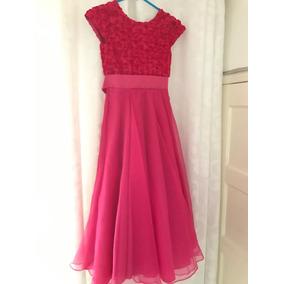 Vestido De Daminha Pink Tamanho 12