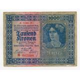 1918 -19 Billete Antiguo Austria W W I 1000 Kronen