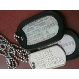 Dog Tags Placas De Identificación Militar