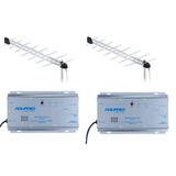 2 Ap50 Amplificador De Potencia Catv Aquário 50db+ 2 Antenas