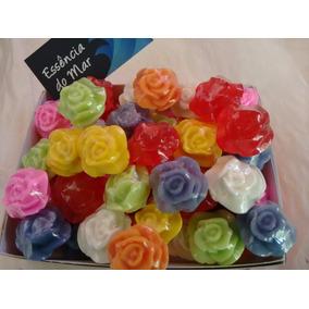 100 Mini Rosas - Sabonete Artesanal - Lembrancinha