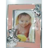 Portaretrato De Bebé Silver Plated Figuras En Relieve
