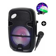 Parlante Potenciado Portatil Bluetooth Overtech 600w + Luces