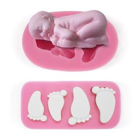 Molde Silicona Bebe, Baby Shower, Fondant, Porcelana Fría