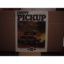 Catalogo Promocional 1974 Chevrolet Pick Up Ingles Raro