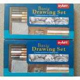Set De Dibujo U-art Con Limpiatipo, Difumino, Carbon Y Mas
