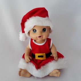 Baby Alive Roupa De Natal Mamae Noel Vestido + Calcinha