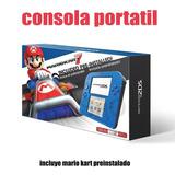 Consola Videojuego Nintendo 2ds Blue Alectric Y Mario Kart 7