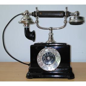 Teléfono Antiguo A Disco De Mesa. Ericsson De500. Funciona