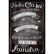 Placa - Decorativo - Grande - Somos Uma Família  - (gv216)