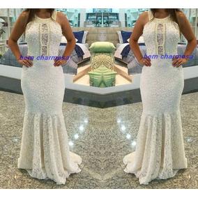 Vestido Sereia Bordado Noiva Formatura Madrinha Casamento