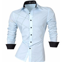 Camisa Social Slim Fit Np56 Estilo Boutique Ocidental.