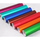 Vinyl Wrappin Colores Cromo Mate Ice 1m X 1.52m Vinil