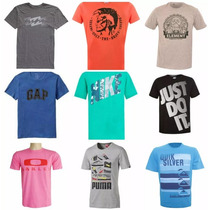 Kit C/ 10 Camisas Masculinas De Marca Famosas Atacado
