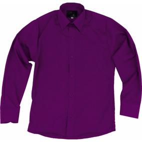 Camisa De Vestir Para Adulto Morada 34 A 42