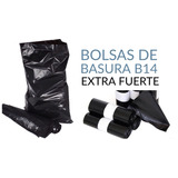 Bolsa Para Basura Negras Extra Fuerte B14 (fábrica)