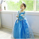 Vestido De Frozen 2 A 3 Años,trenza, Cetro Corona Y Zapatos.